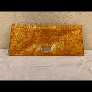 Nine West Bags - Nine West Yellow Fold Over Clutch